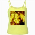 Sparkling Lights Yellow Spaghetti Tank Front