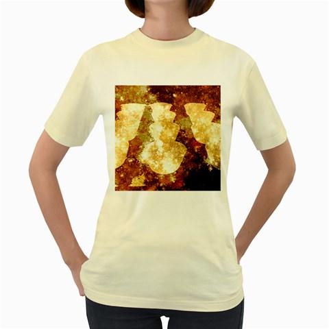 Sparkling Lights Women s Yellow T-Shirt
