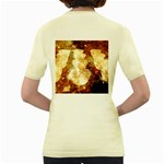 Sparkling Lights Women s Yellow T-Shirt Back