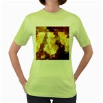 Sparkling Lights Women s Green T-Shirt Front