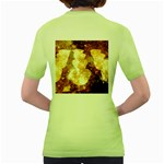Sparkling Lights Women s Green T-Shirt Back