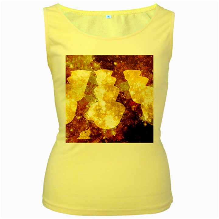 Sparkling Lights Women s Yellow Tank Top