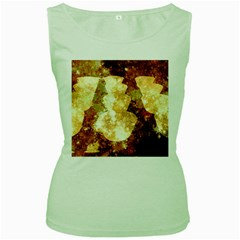 Sparkling Lights Women s Green Tank Top
