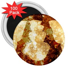 Sparkling Lights 3  Magnets (100 pack)