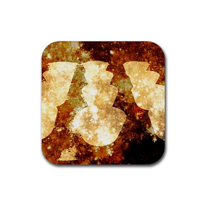 Sparkling Lights Rubber Coaster (Square)