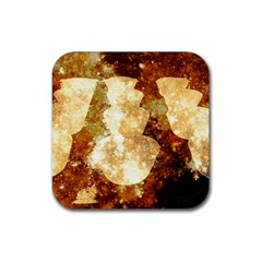Sparkling Lights Rubber Square Coaster (4 pack)