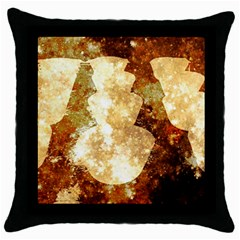 Sparkling Lights Throw Pillow Case (Black)