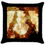 Sparkling Lights Throw Pillow Case (Black) Front
