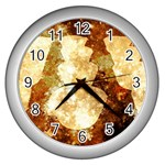 Sparkling Lights Wall Clocks (Silver)  Front