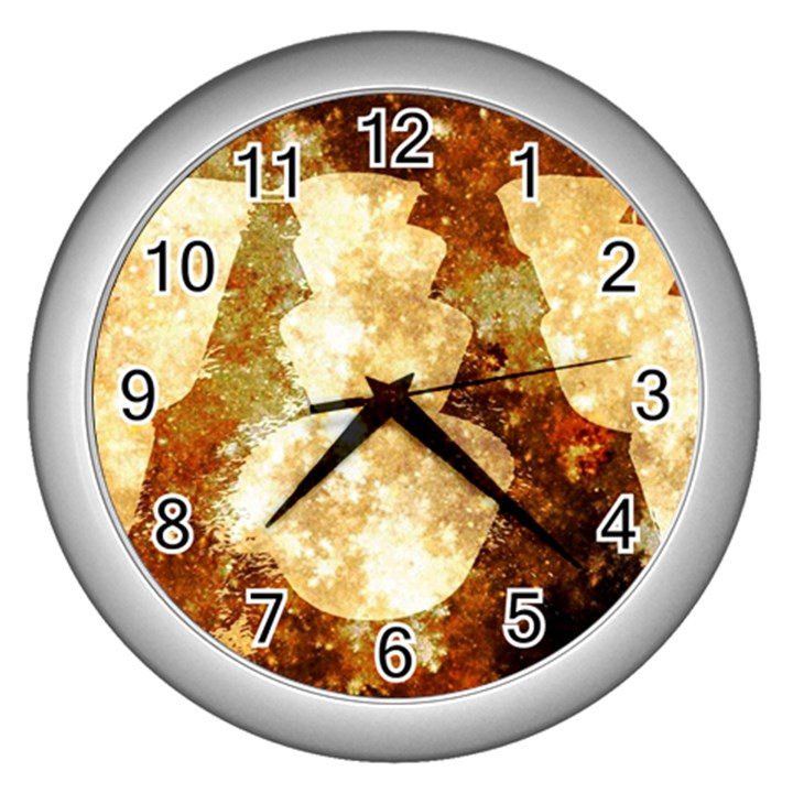 Sparkling Lights Wall Clocks (Silver)