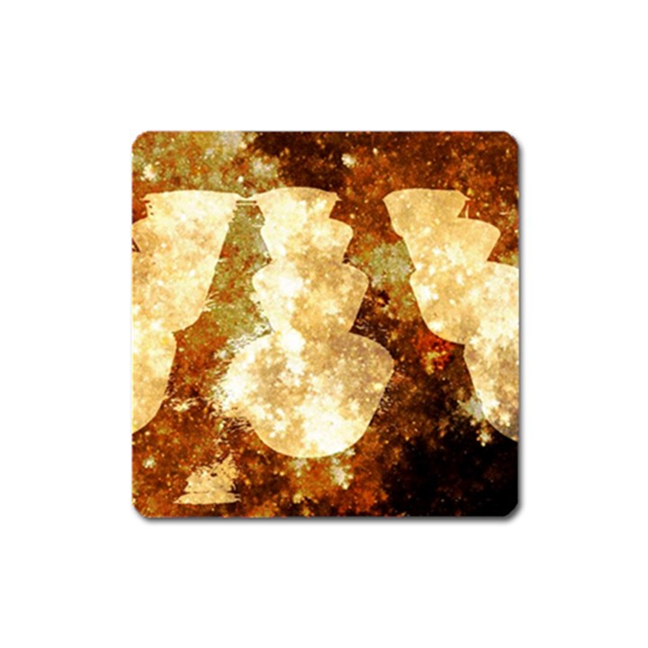 Sparkling Lights Square Magnet