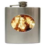 Sparkling Lights Hip Flask (6 oz) Front