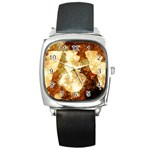 Sparkling Lights Square Metal Watch Front