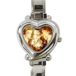 Sparkling Lights Heart Italian Charm Watch Front