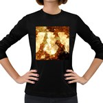 Sparkling Lights Women s Long Sleeve Dark T-Shirts Front