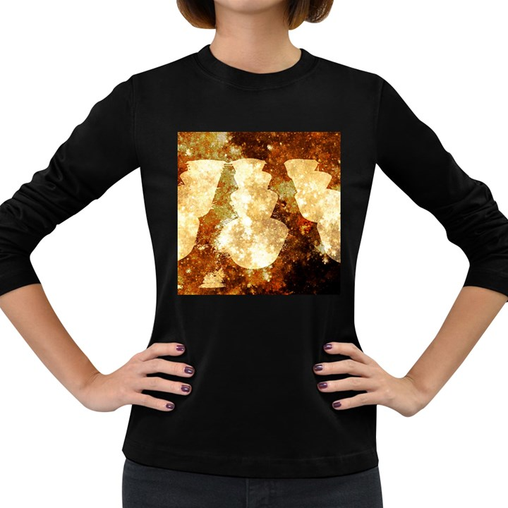 Sparkling Lights Women s Long Sleeve Dark T-Shirts