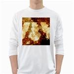 Sparkling Lights White Long Sleeve T-Shirts Front
