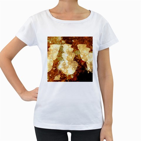Sparkling Lights Women s Loose-Fit T-Shirt (White)