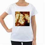 Sparkling Lights Women s Loose-Fit T-Shirt (White) Front