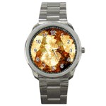 Sparkling Lights Sport Metal Watch Front