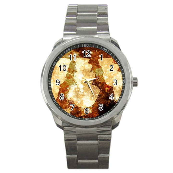 Sparkling Lights Sport Metal Watch