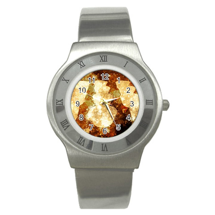 Sparkling Lights Stainless Steel Watch