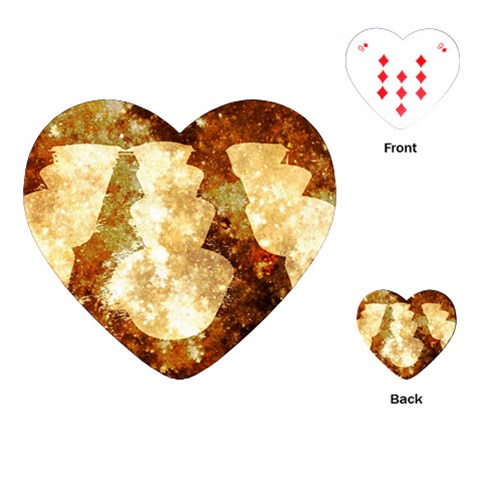 Sparkling Lights Playing Cards (Heart)