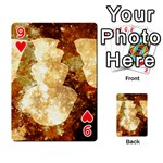 Sparkling Lights Playing Cards 54 Designs  Front - Heart9