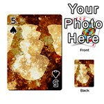 Sparkling Lights Playing Cards 54 Designs  Front - Spade5