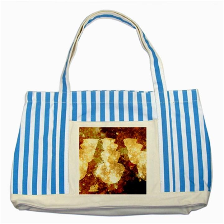 Sparkling Lights Striped Blue Tote Bag