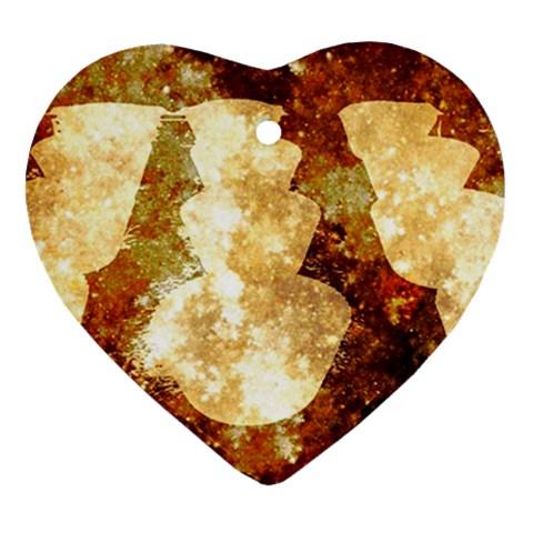 Sparkling Lights Heart Ornament (2 Sides)