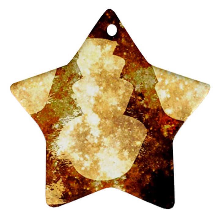 Sparkling Lights Star Ornament (Two Sides)