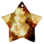Sparkling Lights Star Ornament (Two Sides)  Back