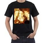 Sparkling Lights Men s T-Shirt (Black) Front