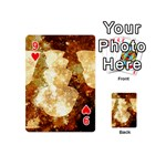 Sparkling Lights Playing Cards 54 (Mini)  Front - Heart9