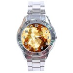 Sparkling Lights Stainless Steel Analogue Watch Front