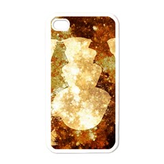 Sparkling Lights Apple iPhone 4 Case (White)