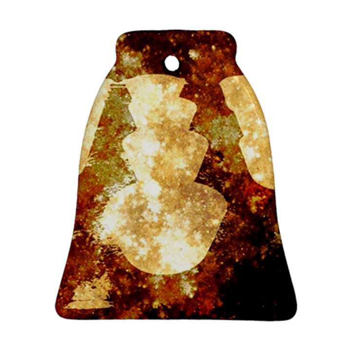 Sparkling Lights Bell Ornament (2 Sides)