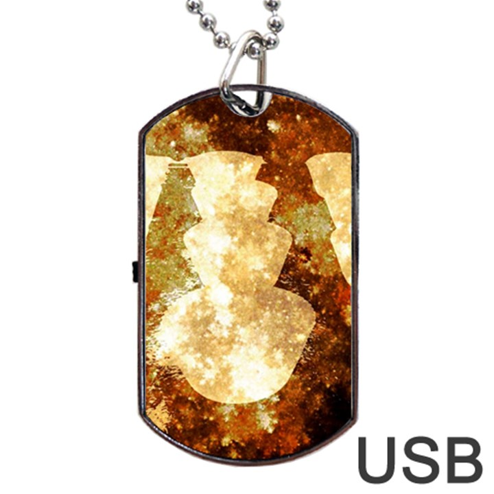 Sparkling Lights Dog Tag USB Flash (Two Sides)