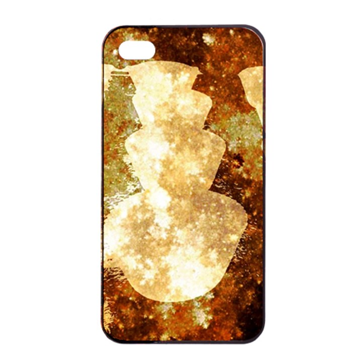 Sparkling Lights Apple iPhone 4/4s Seamless Case (Black)
