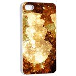 Sparkling Lights Apple iPhone 4/4s Seamless Case (White) Front