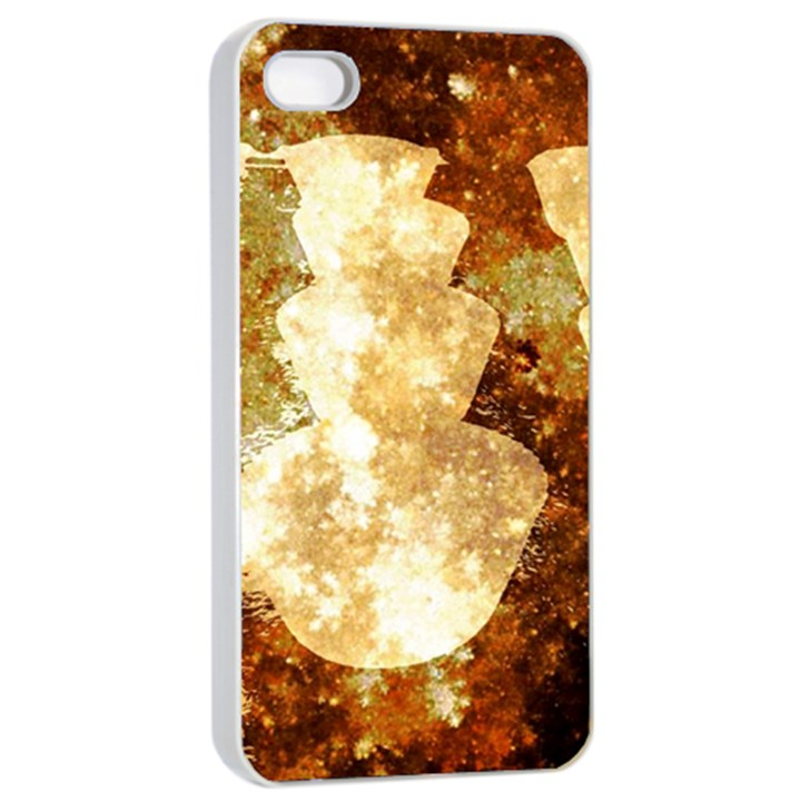 Sparkling Lights Apple iPhone 4/4s Seamless Case (White)