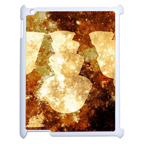 Sparkling Lights Apple iPad 2 Case (White)