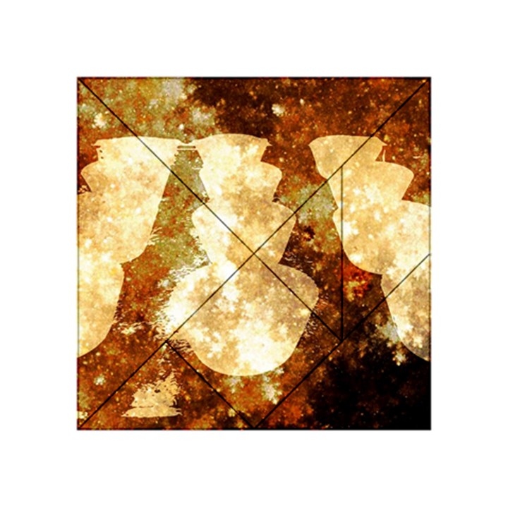 Sparkling Lights Acrylic Tangram Puzzle (4  x 4 )