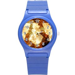 Sparkling Lights Round Plastic Sport Watch (S)