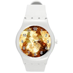 Sparkling Lights Round Plastic Sport Watch (M)