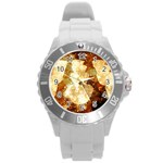Sparkling Lights Round Plastic Sport Watch (L) Front