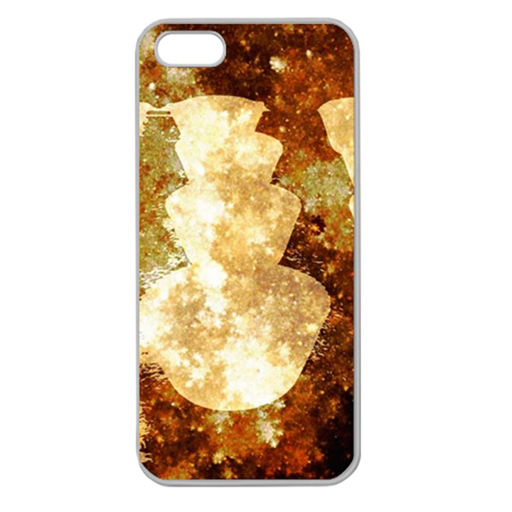Sparkling Lights Apple Seamless iPhone 5 Case (Clear)