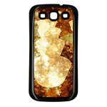 Sparkling Lights Samsung Galaxy S3 Back Case (Black) Front