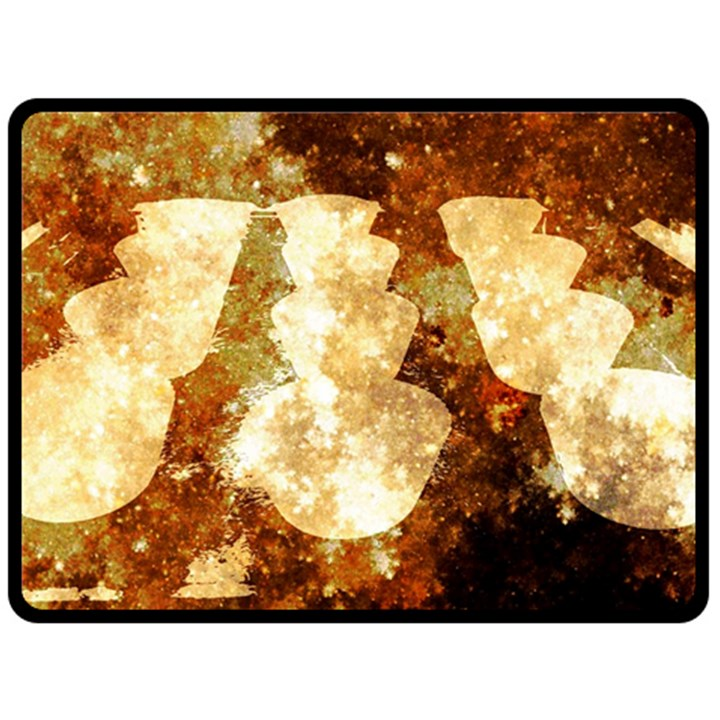 Sparkling Lights Double Sided Fleece Blanket (Large)